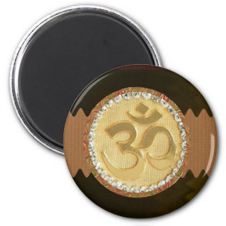 Elegant MANTRA GULD- förtjusande 40 för Embosed Magnet Rund 5.7 Cm