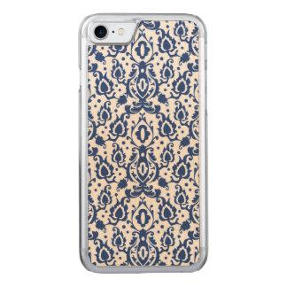 Elegant marockansk stildamast för blått och för carved iPhone 7 skal