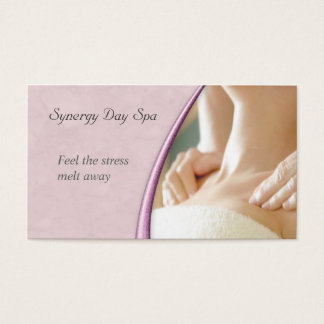 Elegant massageterapivisitkort visitkort
