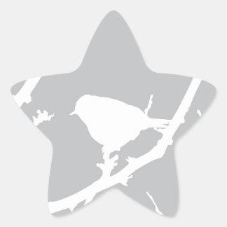 Elegant Minimalist fågelSilhouette Stjärnformat Klistermärke