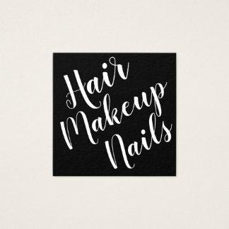 Elegant minimalist visitkort för makeupkonstnär