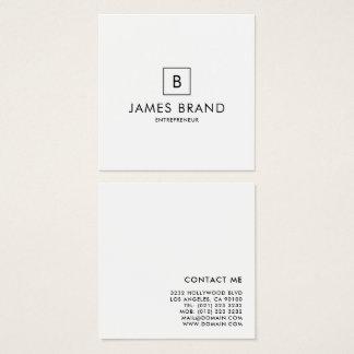 Elegant minsta Monogram Fyrkantigt Visitkort