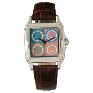 Elegant moderiktig pastell färgar Cheshire som ler Armbandsur