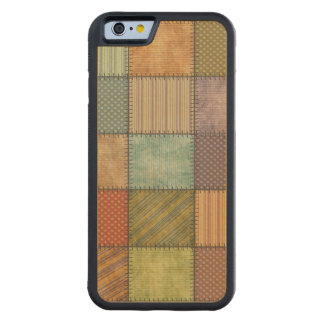 Elegant moderiktig retro patchwork carved lönn iPhone 6 bumper skal