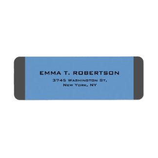 Elegant modern moderiktig Minimalist för blåttgrå Returadress Etikett