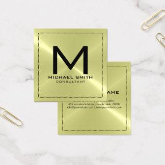 Elegant modern rostfri metall för Monogram Fyrkantigt Visitkort