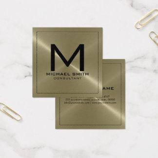 Elegant modern solbränd rostfri metall för fyrkantigt visitkort