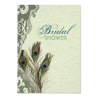 elegant möhippa för vintagelandpåfågel 12,7 x 17,8 cm inbjudningskort