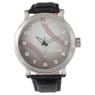 Elegant och stilfull Retro baseballMonogram Armbandsur