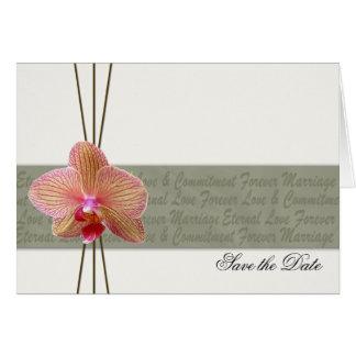 Elegant Orchidspara datera 2 Hälsningskort