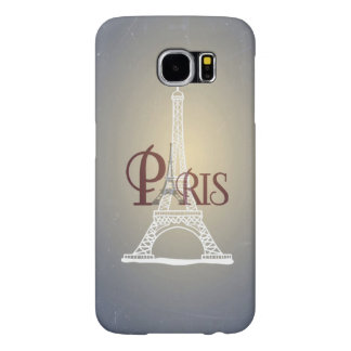Elegant Paris för vintageblåttEiffel torn design Samsung Galaxy S6 Fodral