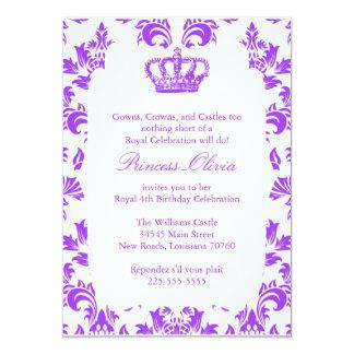 Elegant Princess födelsedagsfest 12,7 X 17,8 Cm Inbjudningskort