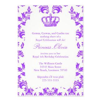 Elegant Princess födelsedagsfest Inbjudningskort