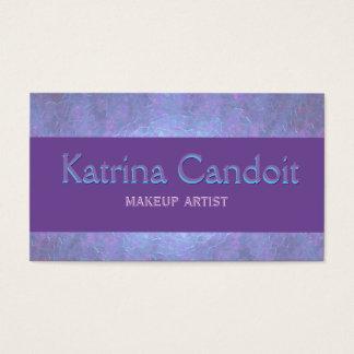 Elegant purpurfärgad plommon visitkort