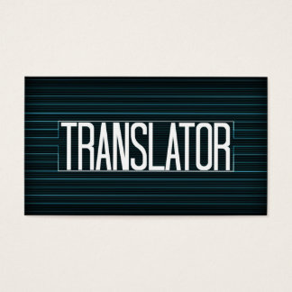 Elegant randvisitkort för översättare visitkort