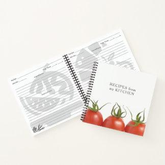 Elegant Red White Tomato Photo Recipes Book