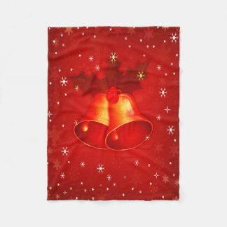 Elegant röd jul Klockor på Snowflakemönster