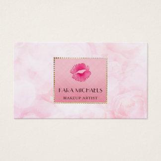 Elegant rosa blommigt för konstnär för visitkort