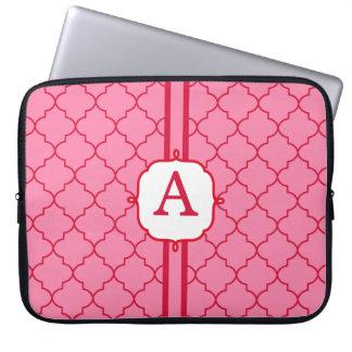 Elegant rosa Monogramlaptop sleeve Datorfodral