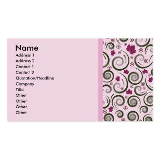 Elegant rosagrönt set av standard visitkort