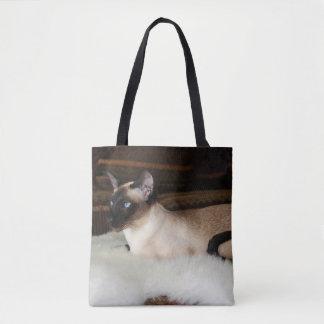 Elegant Siamese katt Tygkasse