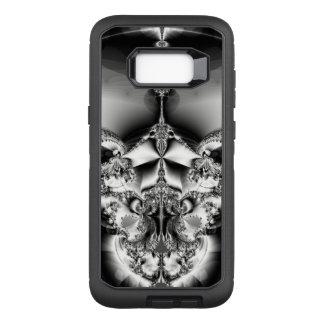 Elegant silver- och svartabstrakt OtterBox defender samsung galaxy s8+ skal