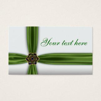 Elegant smaragdgrönt visitkort