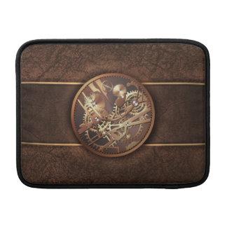 elegant steampunk utrustar guldbrunt MacBook air sleeve