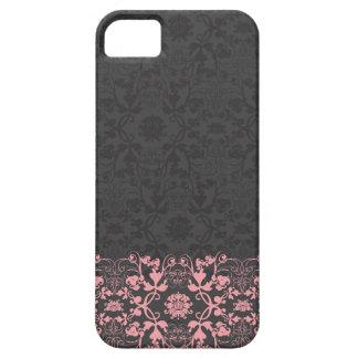 Elegant stilfull chic damastast snöreblommigt för iPhone 5 cases