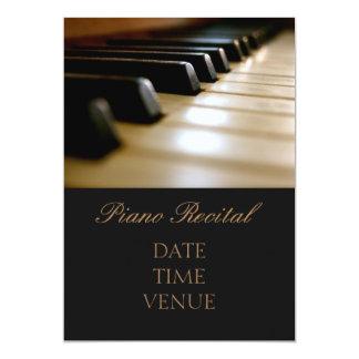 Elegant stilfull kapacitet för pianohögläsning 12,7 x 17,8 cm inbjudningskort