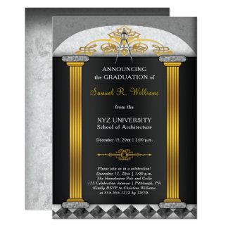 Elegant studenten för arkitektarkitekturkompass 12,7 x 17,8 cm inbjudningskort