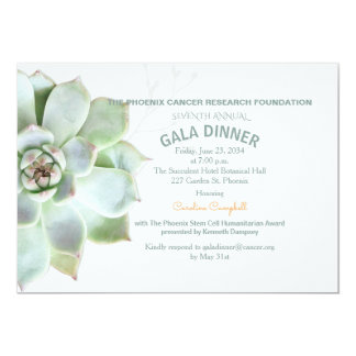Elegant suckulent inbjudan för Galamiddag