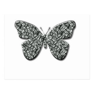 Elegant svartvit fjäril vykort