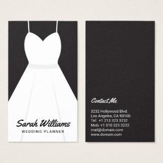 Elegant svartvit händelsebröllopsfixaren visitkort