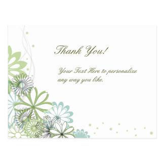 Elegant tackvykort för personlig vykort