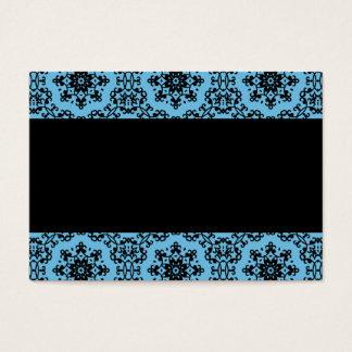 Elegant tom blått- och svartdamast visitkort