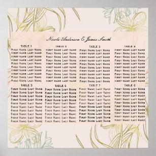 48c421df67c8 Elegant tropisk botanisk blom- placering poster