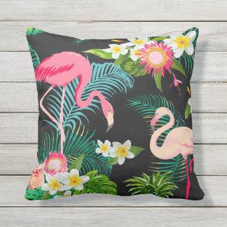 Elegant tropisk rosa Flamingosdekorativ kudde