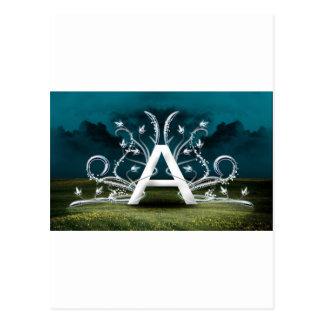 Elegant typografi vykort
