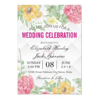 Elegant vintage bröllopfirandemöhippa 12,7 x 17,8 cm inbjudningskort