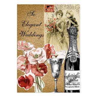 Elegant vintage bröllopPlanner Set Av Breda Visitkort
