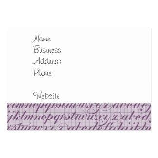 Elegant vintage skrivar typografibokstäverlilor set av breda visitkort