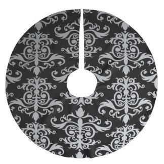 Elegant vintagedamast julgransmatta borstad polyester