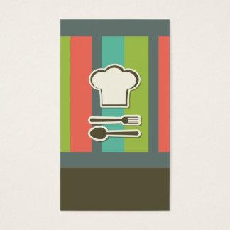 elegant visitkortmall för spis och kock visitkort