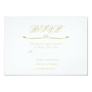 Elegant vit- och guldMonogramOSA 8,9 X 12,7 Cm Inbjudningskort
