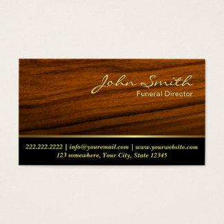 Elegant Wood kornbegravningvisitkort Visitkort