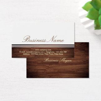 Elegant yrkesmässig flott trävisitkort visitkort