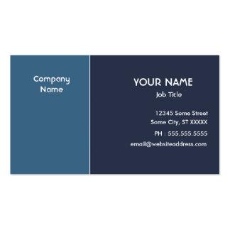 Eleganta blått set av standard visitkort