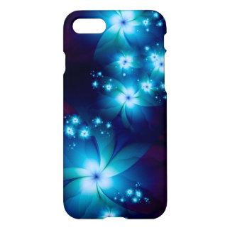 Eleganta blåttFractalblommor iPhone 7 Skal