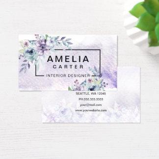 Eleganta blom- visitkortar för vattenfärg visitkort